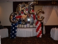 Red. White. & Blue arch for military retirement party