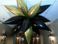 Black and gold ceiling topiary