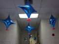 Blue and pink celing decor
