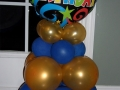 Blue and Gold Happy birthday centerpiece