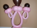 Pink and brown pacifier