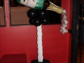 Champagne bottle with bubbles topper  column